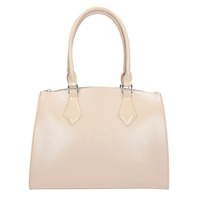 Dámska kabelka s pevnými rúčkami bata, béžová, 961-8740 - 26