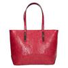 Červená kabelka v Shopper štýle bata, červená, 961-5699 - 26
