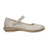 Kožené baleríny s remienkom cez priehlavok bata, béžová, 526-2622 - 15