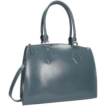 Dámska kabelka s pevnými rúčkami bata, modrá, 961-9740 - 13
