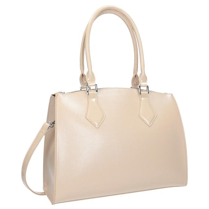 Dámska kabelka s pevnými rúčkami bata, béžová, 961-8740 - 13