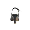 Kožené lodičky v štýle Sling-back pillow-padding, čierna, 624-6638 - 17