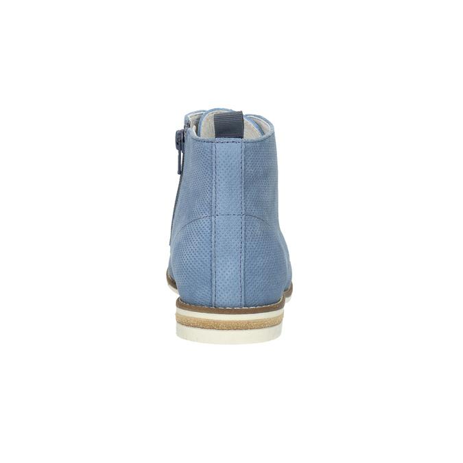 Kožená obuv nad členky bata, modrá, 593-9602 - 17