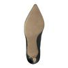 Kožené lodičky do špičky pillow-padding, čierna, 624-6635 - 26