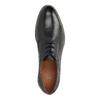 Kožené poltopánky s pruhovanou podošvou bata, čierna, 826-6790 - 19