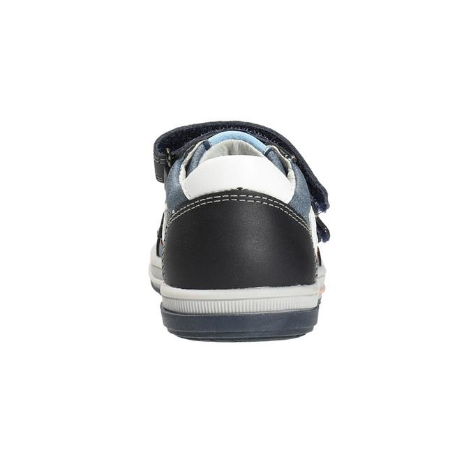 Detské kožené topánky na suchý zips bubblegummers, modrá, 116-9600 - 15