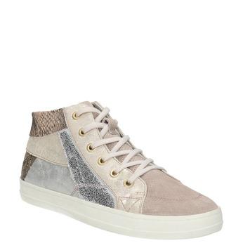 Dámske kožené tenisky bata, ružová, 526-5614 - 13