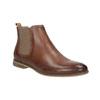 Kožené členkové Chelsea Boots s perforáciou bata, hnedá, 596-4644 - 13