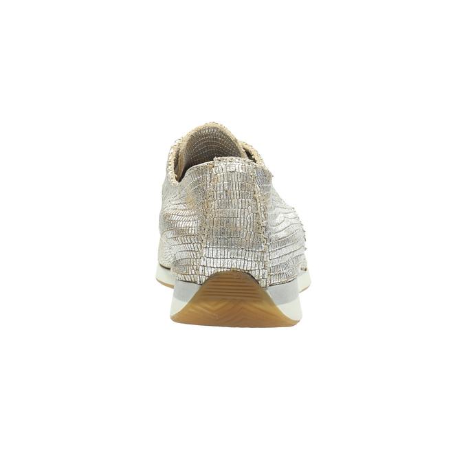 Zlaté kožené tenisky bata, strieborná, 526-8633 - 17