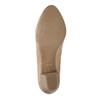Kožené lodičky na nižšom podpätku pillow-padding, béžová, 626-8637 - 26