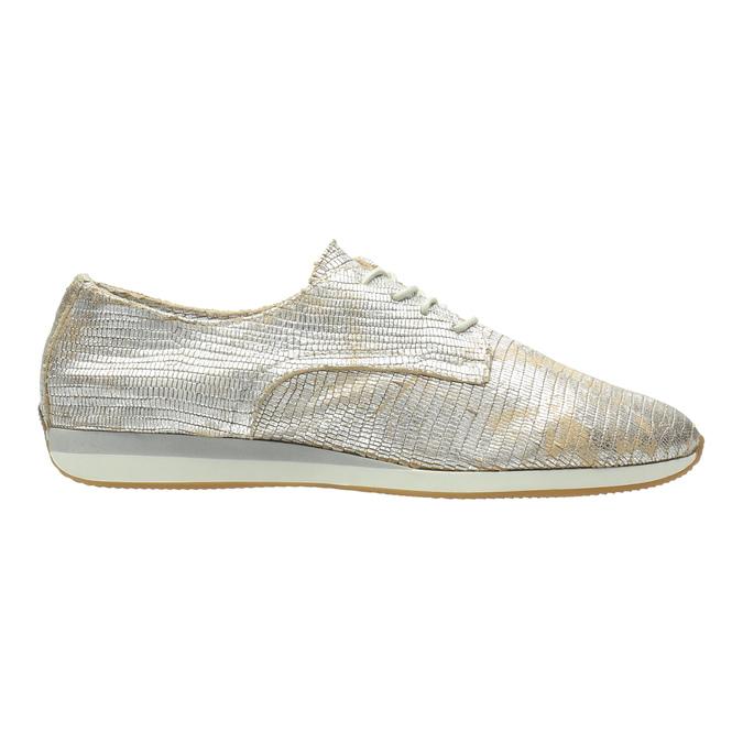 Zlaté kožené tenisky bata, strieborná, 526-8633 - 15