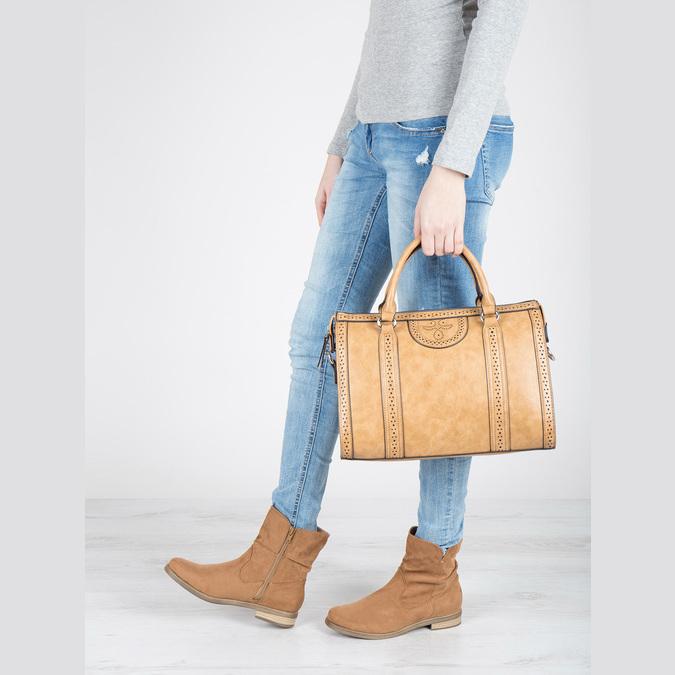 Hnedé členkové čižmy bata, hnedá, 599-4614 - 18