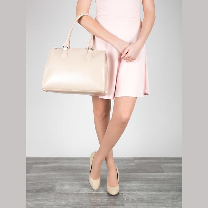 Dámska kabelka s pevnými rúčkami bata, béžová, 961-8740 - 17