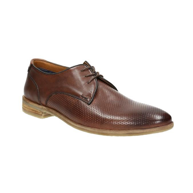 Ležérne kožené poltopánky hnedé bata, hnedá, 826-4807 - 13
