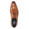 Hnedé kožené Derby poltopánky bata, hnedá, 826-3804 - 19