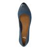 Dámske kožené lodičky bata, modrá, 626-9639 - 19