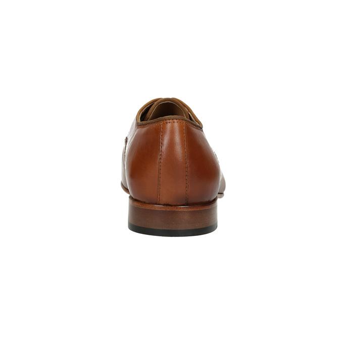 Pánske kožené poltopánky bata, hnedá, 826-3836 - 17