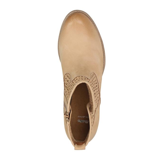 Členkové dámske čižmy s perforáciou bata, hnedá, 696-3643 - 19