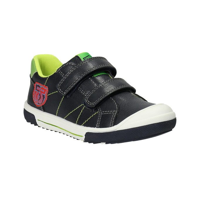 Detská obuv na suchý zips mini-b, čierna, 211-6607 - 13
