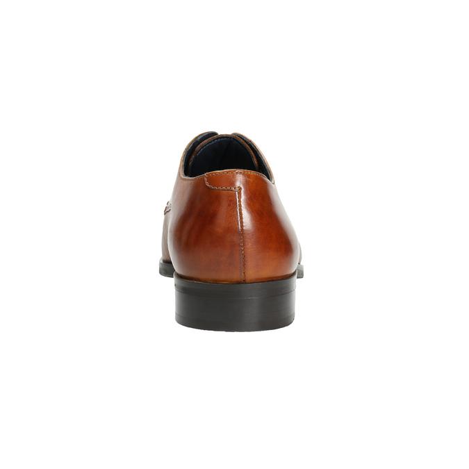 Hnedé kožené Derby poltopánky bata, hnedá, 826-3804 - 17