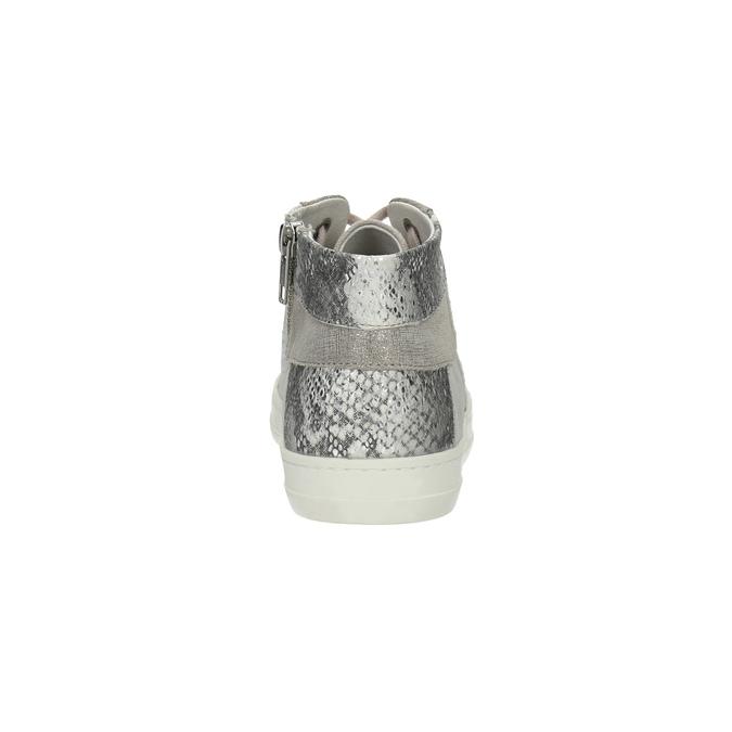 Kožené členkové tenisky so vzorom bata, šedá, 526-2614 - 17