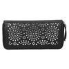 Dámska perforovaná peňaženka bata, čierna, 941-6154 - 19