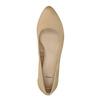 Kožené lodičky na nízkom podpätku bata, béžová, 626-8639 - 19