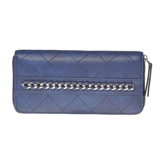 Dámska peňaženka s prešívaním bata, modrá, 941-9146 - 17