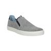 Kožené šedé Slip-on topánky bata, šedá, 833-2600 - 13