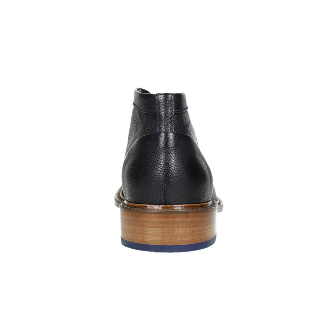 Celokožená členková obuv bata, modrá, 826-9909 - 17