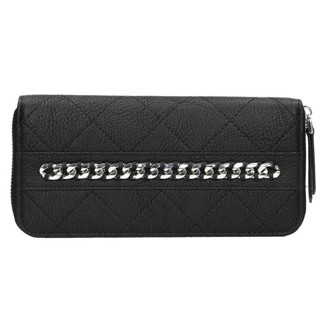 Peňaženka s prešívaním a retiazkou bata, čierna, 941-6146 - 26