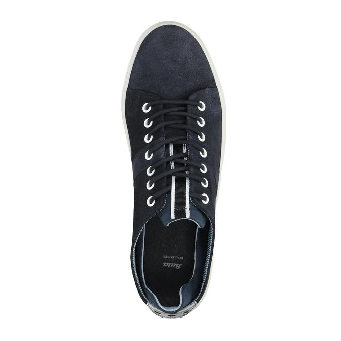 Kožené tenisky s perforáciou bata, modrá, 843-9621 - 19