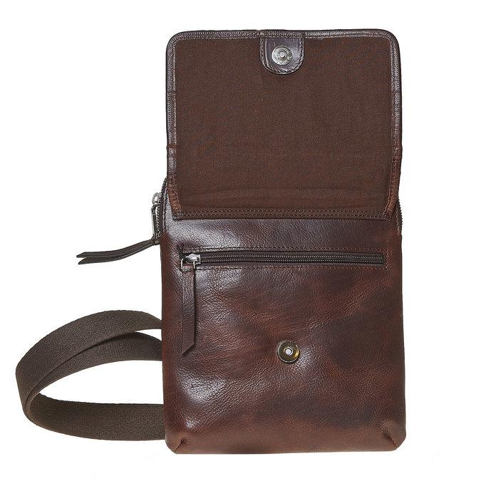 Kožená taška Crossbody bata, hnedá, 964-4237 - 17