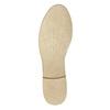 Kožené poltopánky s perforáciou bata, béžová, 526-8619 - 26
