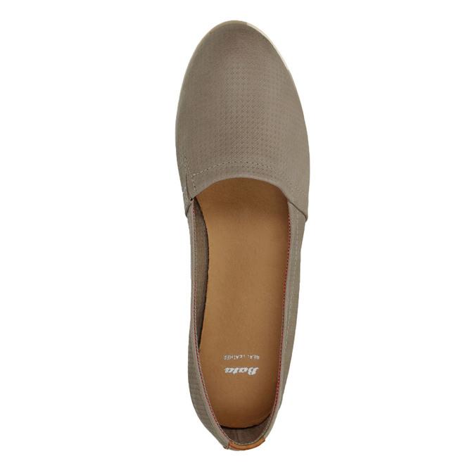 Dámska kožená Slip-on obuv bata, hnedá, 516-2602 - 19