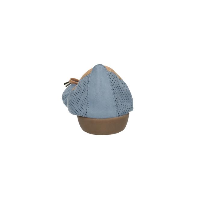 Kožené modré baleríny s pružným lemom bata, modrá, 526-9617 - 17