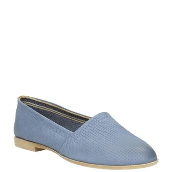 Dámska obuv v štýle Slip-on bata, modrá, 516-9602 - 13