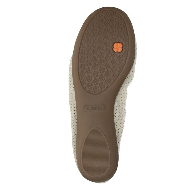 Kožené baleríny s pružným lemom bata, béžová, 526-8617 - 26