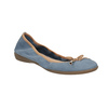 Kožené modré baleríny s pružným lemom bata, modrá, 526-9617 - 13