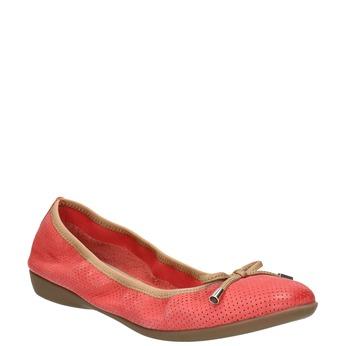 Červené baleríny s pružným lemom bata, červená, 526-5617 - 13