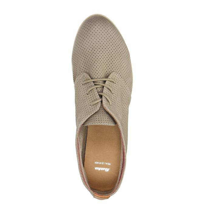 Kožené dámske poltopánky bata, šedá, 526-2619 - 19