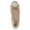 Kožené baleríny s pružným lemom sundrops, béžová, 526-8617 - 19