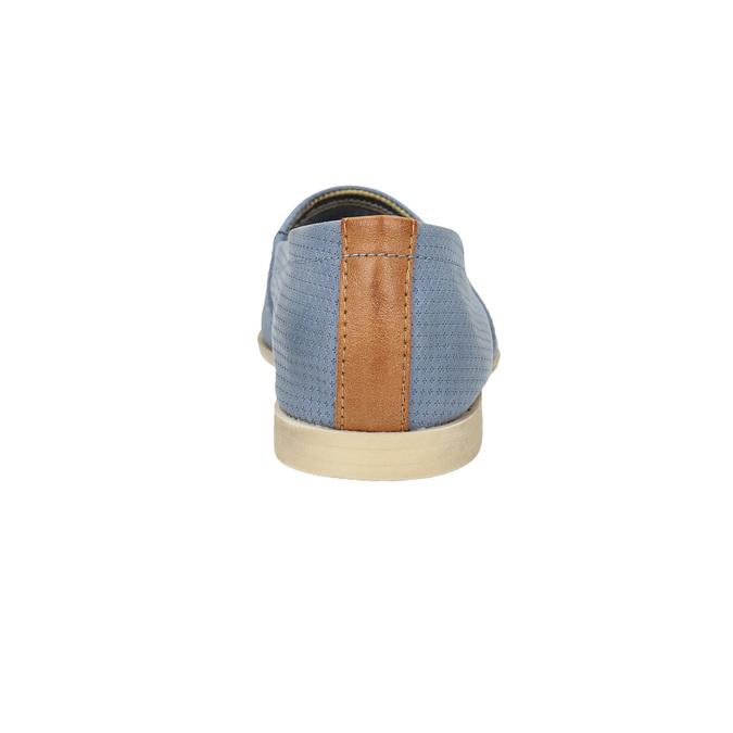 Dámska obuv v štýle Slip-on bata, modrá, 516-9602 - 17