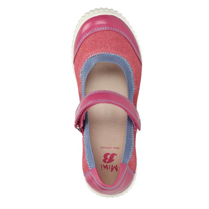 Detské baleríny s remienkom cez priehlavok mini-b, ružová, 329-5605 - 19