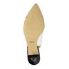 Kožené Sling-back lodičky bata, biela, 624-1634 - 26
