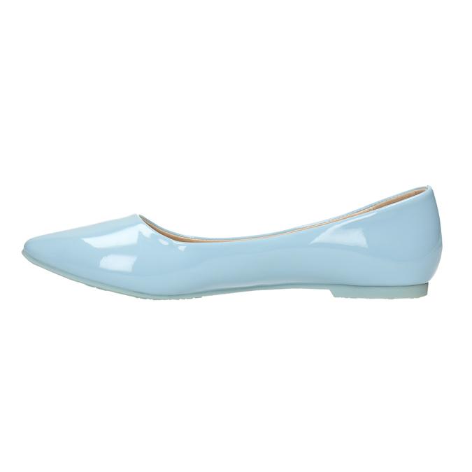 Svetlomodré dámske baleríny bata, modrá, 521-9602 - 26