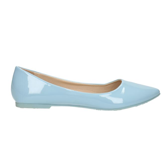 Svetlomodré dámske baleríny bata, modrá, 521-9602 - 15