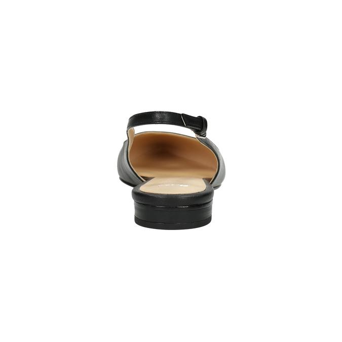 Dámske baleríny s otvorenou pätou bata, čierna, 524-6603 - 17