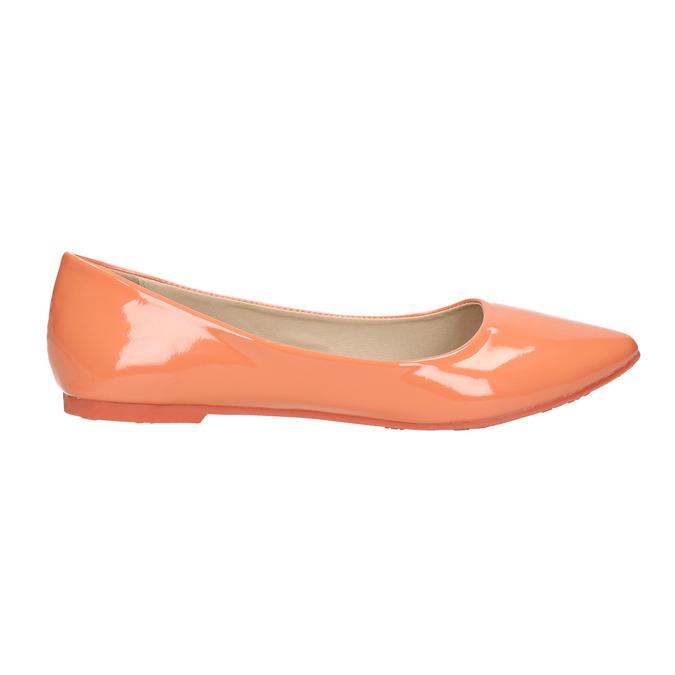 Dámske baleríny bata, oranžová, 521-8602 - 15