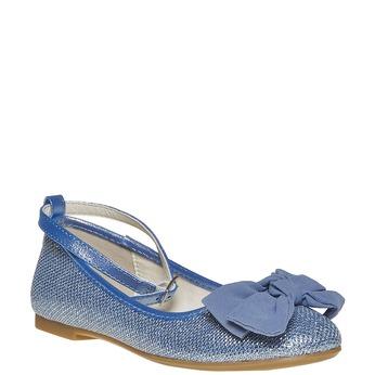 Modré dievčenské baleríny mini-b, modrá, 329-9241 - 13